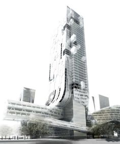 "Morphosis Architects / Thom Mayne · Shenzhen – ""4 Towers in 1"" Competition - Narrative"