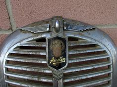 """Vintage front grill for a 1954 Austin A40 Somerset car ~RARE. 19""""H x 17""""W Deco design"""