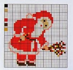 Gráficos papai noel ponto cruz, natal, bordados, graphics santa cross stitch,