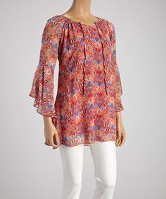 Look what I found on #zulily! Coral Hearts Tunic - Women by Lady Noiz #zulilyfinds