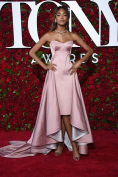 Jourdan Dunn in Zac Posen attends the 2016 Tony Awards on June 12, 2016
