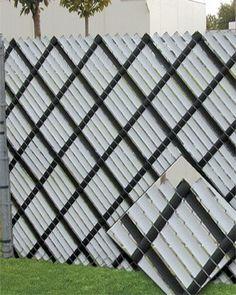Home made alternative to chain link privacy fence slats? - Yahoo