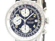 Polished #BREITLING Old Navitimer Steel Leather Automatic Watch A13022.1 BF109210: All of #eLADY's items are inspected carefully by expert authenticators who have years of experience. For more pre-owned luxury brand items, visit http://global.elady.com