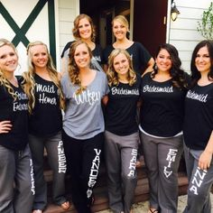 Bridal Party Sweatpants for your bachelorette party or wedding day Personalized Wedding Yoga Style Sweatpants – Bridesmaid Gift – Will You Be My Bridesmaid – Asking Bridesmaids, Will You Be My Bridesmaid, Wedding Bridesmaids, Bridesmaid Gifts, Wedding Dresses, Gifts For Wedding Party, Bridal Gifts, Bridal Parties, Wedding Favours