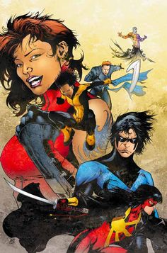 Nightwing and The Outsiders by Matthew Clark