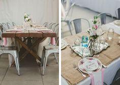 a beautiful, rustic and vintage inspired reception.