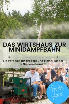 Dieses Wirtshaus ist echt toll. Regelmäßig zieht eine Dampfbahn ihre Runden und lädt zum Mitfahren ein. Es gibt außerdem einen Streichelzoo, Go-Carts und vieles mehr. Auch eine Kutschen-Fahrt mit einem Oldtimer-Traktor kann gemacht werden...ein absolutes Kinderparadies. #ferdis-place #Niederösterreich #Kinder #Ausflugstipp #Wirtshaus Trains, Places, Movies, Movie Posters, Adventure Awaits, Ride Along, Petting Zoo, Films, Film Poster
