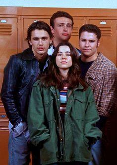 Freaks and Geeks cast: James Franco, Jason Segel, Linda Cardinelli, and Seth Rogen