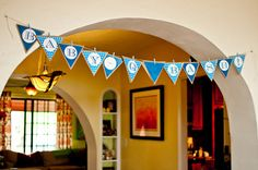 Baby Shower Banner - would use different colors, but like the layout.