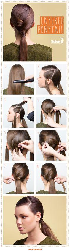 Layered Ponytail hair tutorial by Salon B Ponytail Hairstyles, Hair Makeup, Hair Styles, Beautiful, Hairstyle Ideas, Hairdos, Hairdos, Party Hairstyle, Hair Care