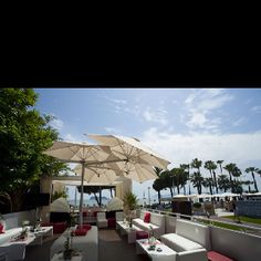 Our very own Havas Cafe at Cannes- in front of the Grand Hotel this Cannes Lions Grand Hotel, Cannes, Lions, Beautiful Places, Patio, Fan, Outdoor Decor, Home Decor, Places