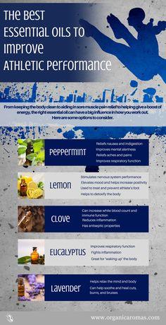 The Best Essential Oils to Improve Athletic Performance #OrganicAromas #Athlete #EssentialOils