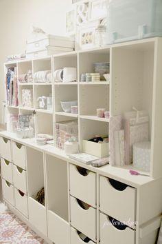 Craft Storage xx & 154 best Craft Rooms images on Pinterest   Study corner Work spaces ...