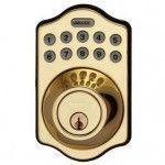 LockState Electronic Keypad Deadbolt - Polished Brass