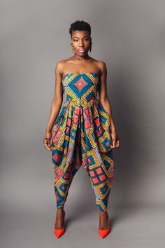 African Print Bianca Jumpsuit — Living in Light African Print Jumpsuit, Ankara Jumpsuit, Ankara Dress, Jumpsuit Style, Ankara Fabric, African Fashion Designers, African Print Fashion, African Fashion Dresses, African Prints