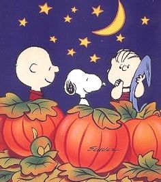 """It's the great pumpkin, Charlie Brown!"""