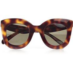 Eyewear (£195) ❤ liked on Polyvore featuring accessories, eyewear, sunglasses, acrylic glasses, celine glasses, celine eyewear, celine sunnies and celine sunglasses