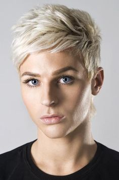 Pixie hair is great for crossdressing. You can style it like a girl when you dress up in femme or slick it back like a boy when you need to be in homme.