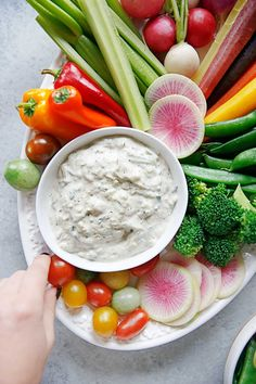 Crudité Platter with Dairy-free Tzatziki Sauce   Lexi's Clean Kitchen