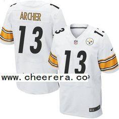 Men's Pittsburgh Steelers #13 Dri Archer White Road NFL Nike Elite Jersey