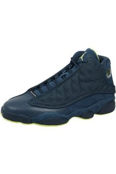 Mens Nike Air Jordan Retro 13 Basketball Shoes Squadron Blue / Electric Yellow / Black 414571