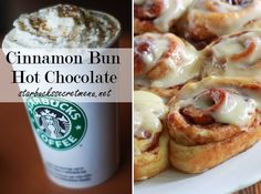 Starbucks Cinnamon Bun Hot Chocolate! #StarbucksSecretMenu Recipe here: http://starbuckssecretmenu.net/starbucks-secret-menu-cinnamon-bun-hot-chocolate/