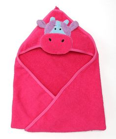 Take a look at this Red Cow Hooded Towel by Genuine Monkeez and Friends on #zulily today!