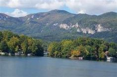 Lake Lure NC..this lake and parts of the inn were made famous in Dirty Dancing, the lake scene was filmed here