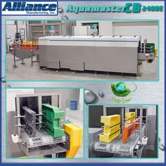 Aluminum automotive transfer cases are cleaned with the Alliance parts washer. (298)