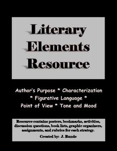 Literary Elements Resource - 5 elements, 156 pages!