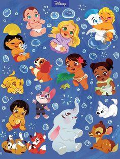 Disney presenta a sus protagonistas de bebés ¡y son adorables!