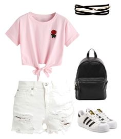 """Untitled #220"" by rekac on Polyvore featuring WithChic, R13, adidas Originals, French Connection and Kenneth Jay Lane"