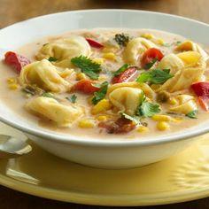 Southwest+Tortellini+Chowder+@keyingredient+#cheese+#chicken+#vegetables