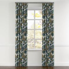 Aqua Chinoiserie Dragon Curtain, Ring Top | Loom Decor