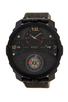 This 'Machinus' Canvas Strap Watch by Diesel is a great gift option for your favorite guy!