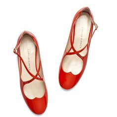 LOVER FLATS IN RED (13.895 RUB) ❤ liked on Polyvore featuring shoes, flats, flat shoes, flat heel shoes, flat pumps, red flats and flat pump shoes