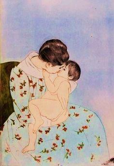 Mother's Kiss, 1890. Mary Cassatt.