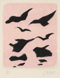 """Georges Braque France 1882-1963 """"Oiseaux"""""""