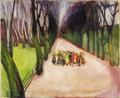 Edvard Munch Children on the Street 1906 75 x 90 cm Oil on canvas Not signed Munch-museet, Oslo