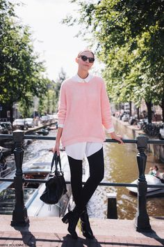 Pink, white and black is one of the best color combos in fashion history