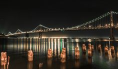 Bay Bridge at night by Dharma Mulia on 500px
