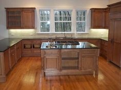 P.M. Services - Stained Maple Kitchen