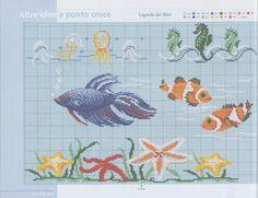 Gallery.ru / Фото #3 - 18 - geminiana Cross Stitch Sea, Cross Stitch Boards, Cross Stitching, Cross Stitch Embroidery, Cross Stitch Patterns, France Patchwork, Needlepoint Patterns, Beading Patterns, Needlework