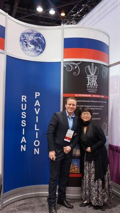 Alexander Rodionov, CMP, DMCP, Tsar Events DMC & PCO together with Liu Ping, China Star Ltd. at AIBTM in Chicago, June 3013