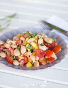 Salat aus dicken weißen Bohnen - Leckerer schneller und frischer veganer Salat für Zuhause, fürs Büro oder für Unterwegs. Leicht mediterane Note, schmeckt Sommer wie Winter | cozy and cuddly - http://www.cozy-and-cuddly.de #vegan #glutenfrei #zumgrillen #imglas