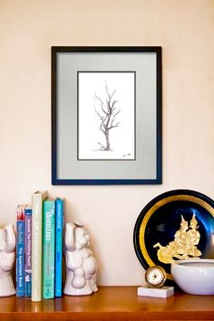 Ink and Paint Textured Gum Tree Fine Art Print - 11x14 Giclée Art Poster. $16.00, via Etsy.