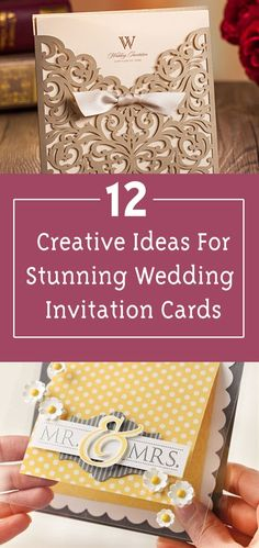 287 best wedding images on pinterest weddings wedding ideas and 12 creative ideas for a stunning wedding invitation card fandeluxe