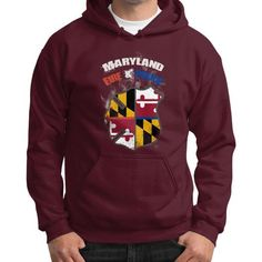 Maryland police alone we are strong Gildan Hoodie (on man)