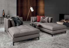 Comfortable Gray Fabric Daybed Cover Set On Gray Fur Rug Also Classic Lamp Standing Beside Also Fireplace Insert On Gray Wall Paint Along With Red Gray Pillow Complited Daybed Cover Decoration for Contemporary Room Design living room