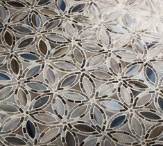 Artistic Tile | Flapper Floral Detroit Blues | Full of life and pizzazz, Jazz Glass™ is the opposite of dull and drab. Be daring; activate your space with our vivacious Jazz Glass™ patterns. Beautiful color and intricate hand-work make these mosaics truly one-of-a-kind. Bring the energy of Louis Armstrong and Miles Davis into your home!